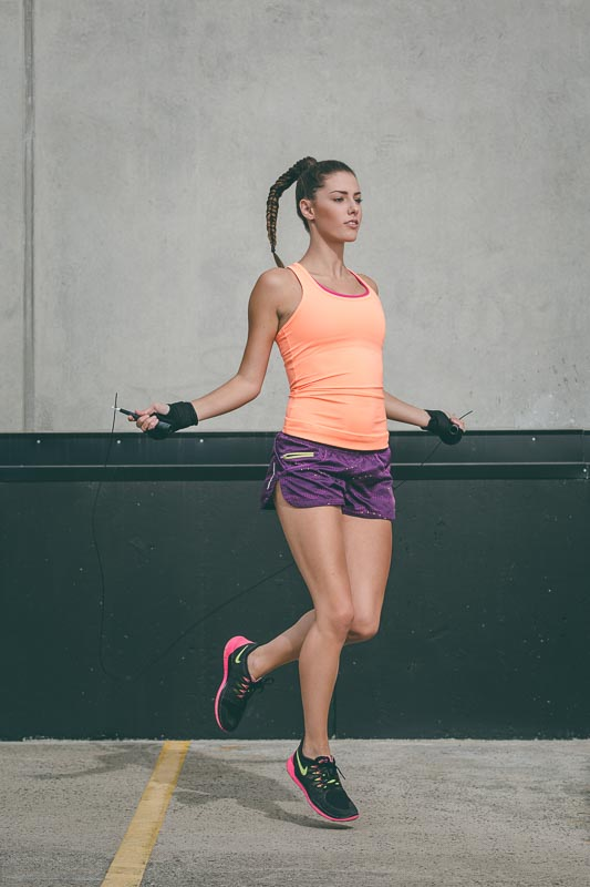 Woman Skipping | Fitness Test shoot