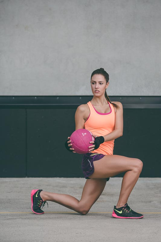 Medicine Ball lunge | Fitness Test shoot