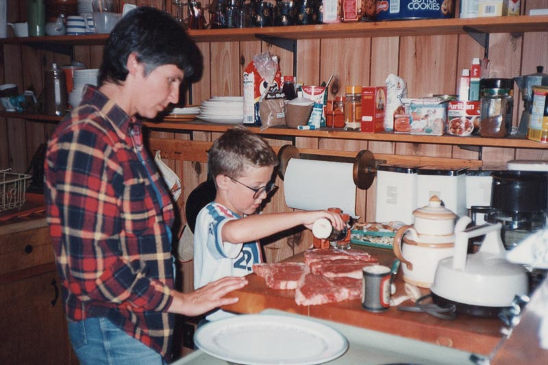 Mom taught me to cook and was always patient. The learning was more important than any mess I made.