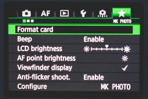 Customize your camera menu | Photo Proventure